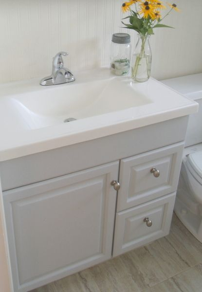 Captivating Frugal Family Times: DIY Frugal Bathroom Reno: Updating An Old Vanity