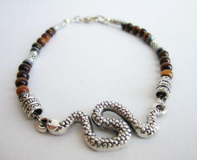 Perline Stock Pietra Occhio di Tigre Naturale Braccialetto Braccialetti Perle