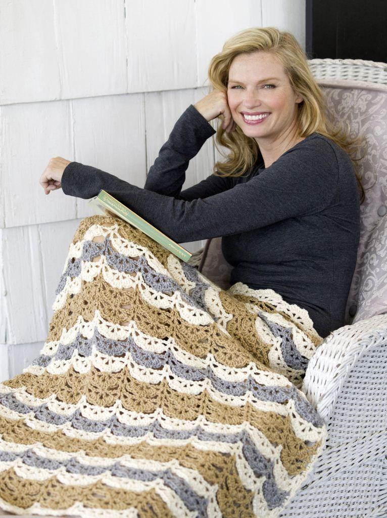 Neutral Cluster Lapghan   Crochet Blankets and Afghans   Pinterest ...