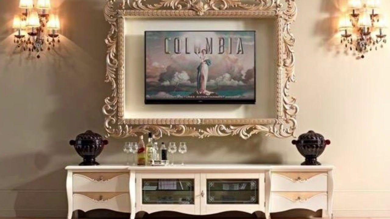 افكار لتزيين اطار التلفاز بإستخدام برواز الصور Youtube Decor Around Tv Home Decor Living Room Decor