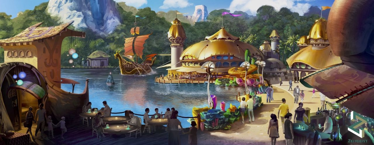 Zeitgeist concept art for new Indonesian theme park