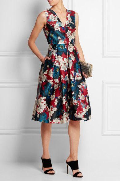 Erdem   Loren printed silk-gazar dress   NET-A-PORTER.COM