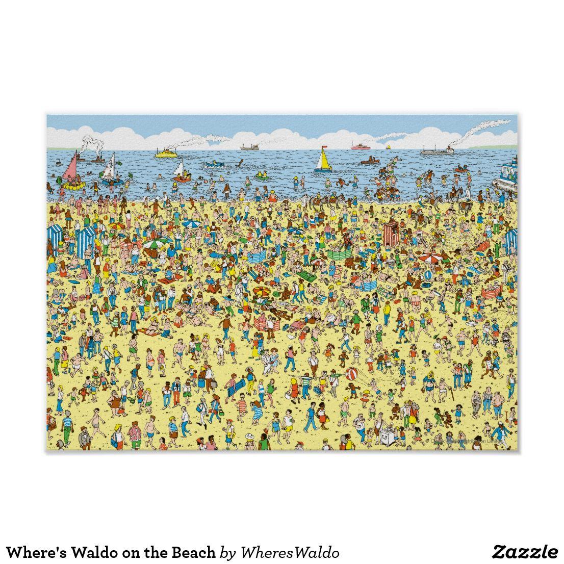 Where\'s Waldo on the Beach Poster | Beach posters