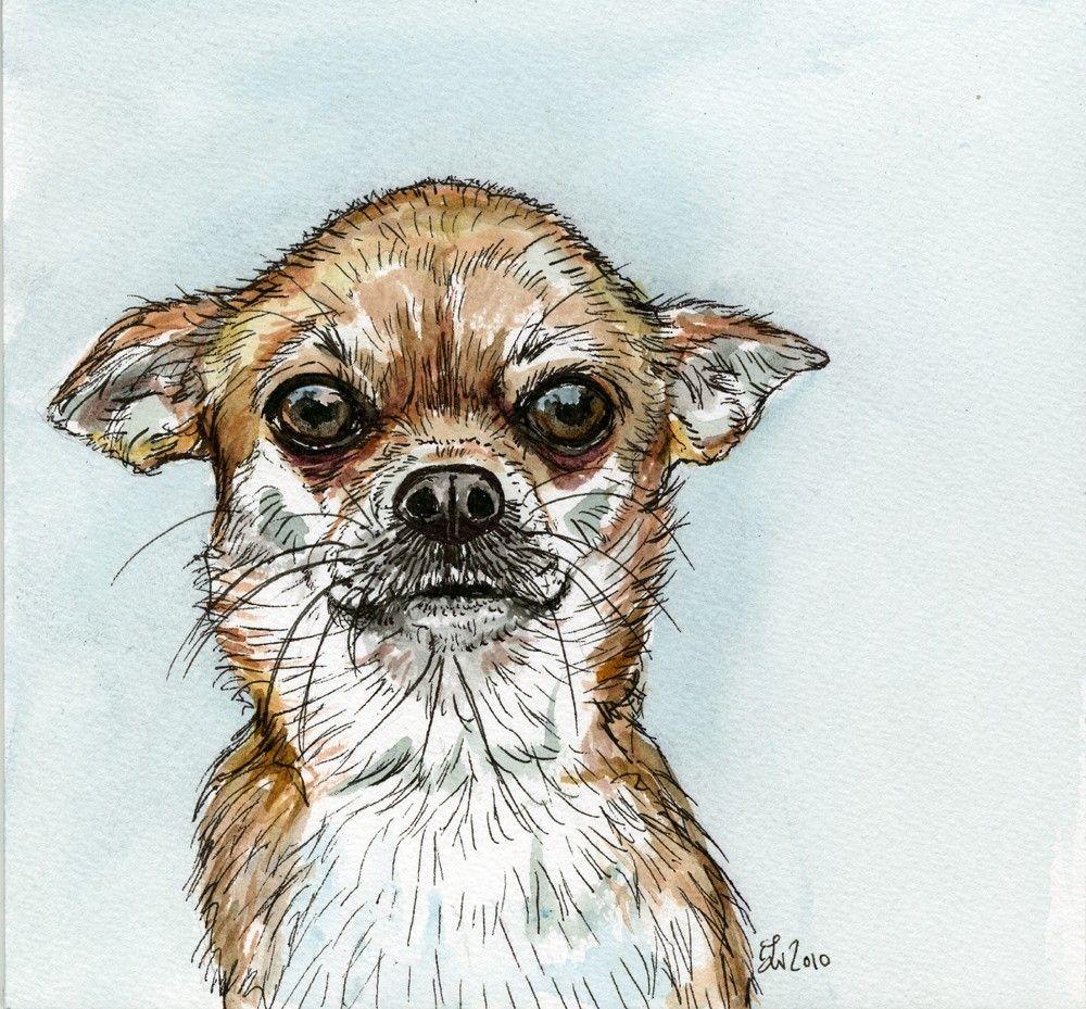 Chihuahua Dog Art Print Dog Print Art Dog Art Dog Paintings