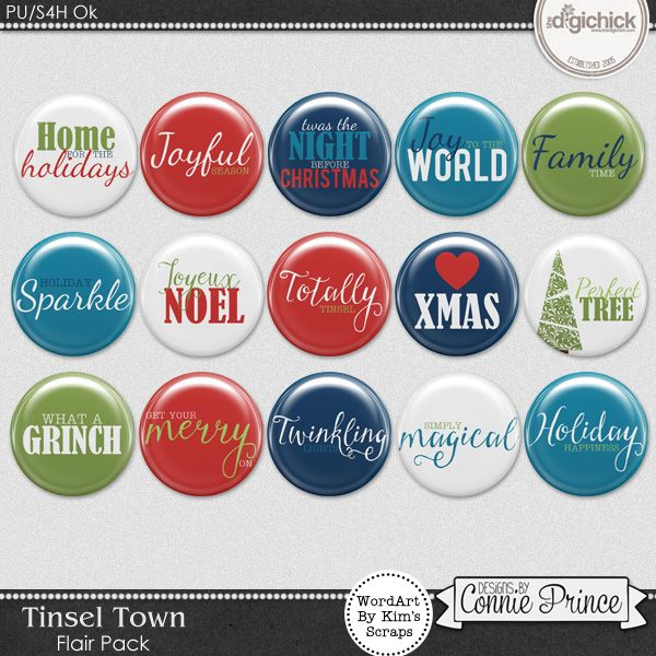 Tinsel Town - Flair Pack