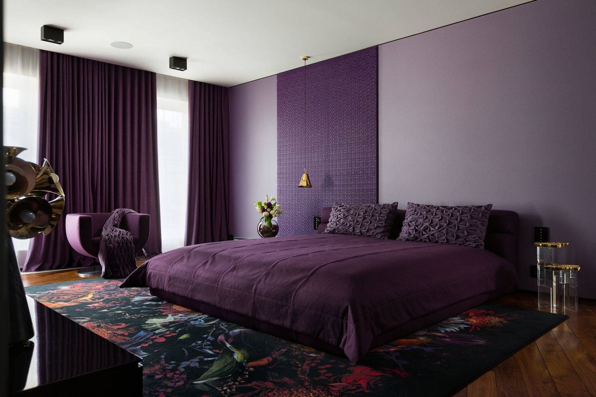 elegant purple theme for bedroom design ideas with luxury purple | 33 Purple Themed Bedrooms With Ideas, Tips & Accessories ...