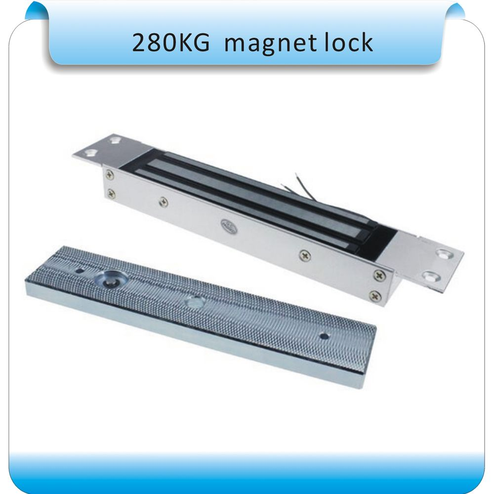 Access Control Access Control System Holding 280kg Single Door 12v Electric Magnetic Lock Electromagnetic Lock Holding Force Nc Fail Safe Mode