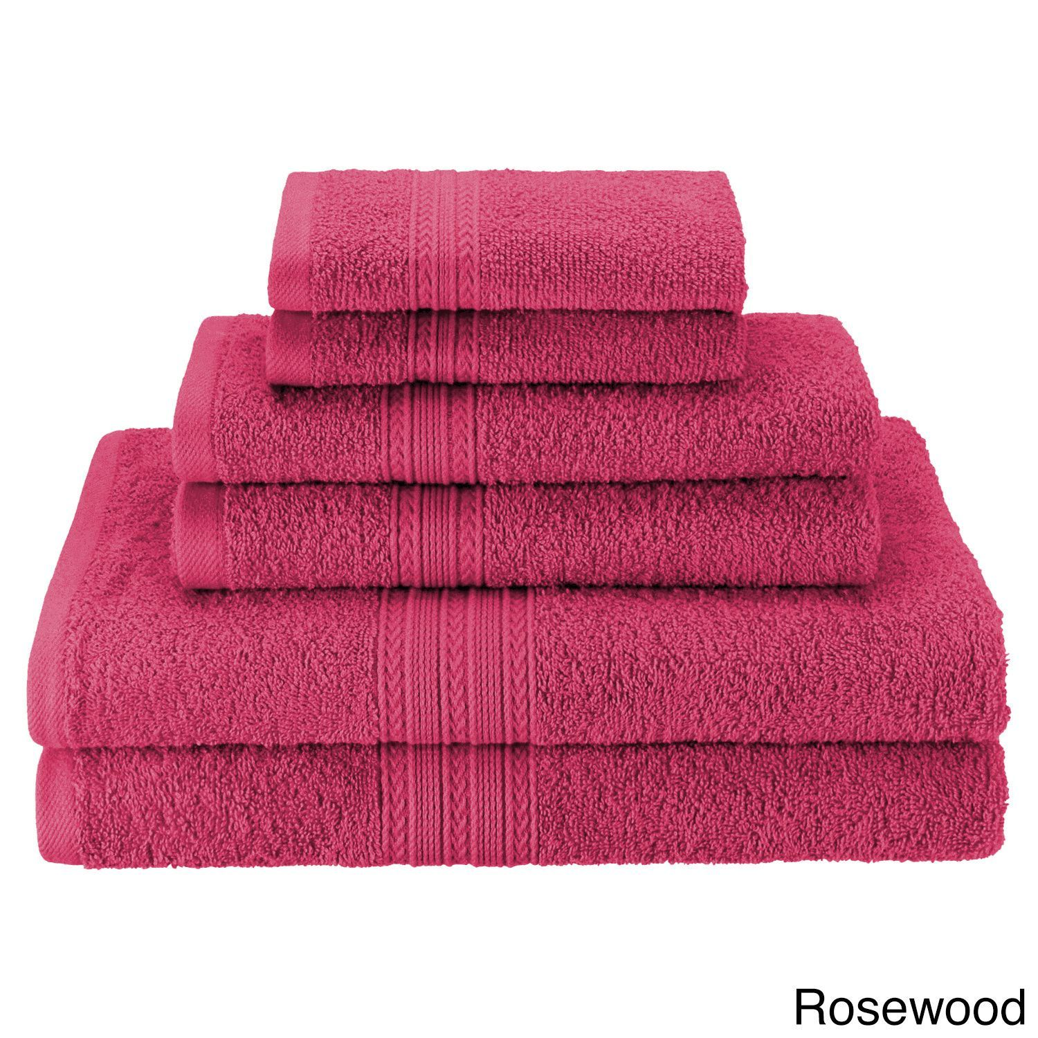 City Superior Eco Friendly Soft and Absorbent 6-Piece Towel Set