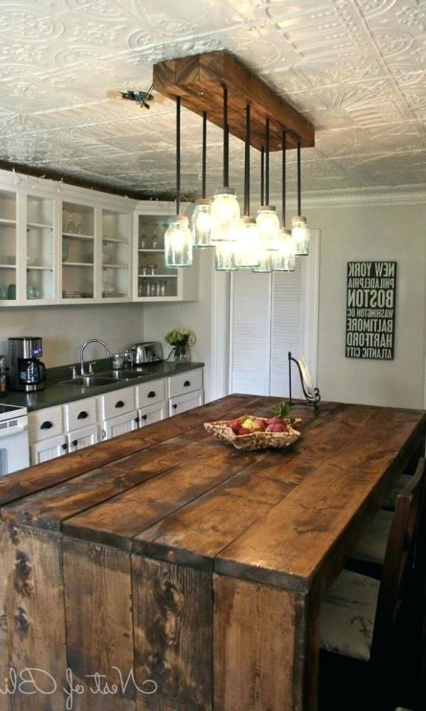 Photo of Farmhouse Beam Light with Cages- BULBS INCLUDED