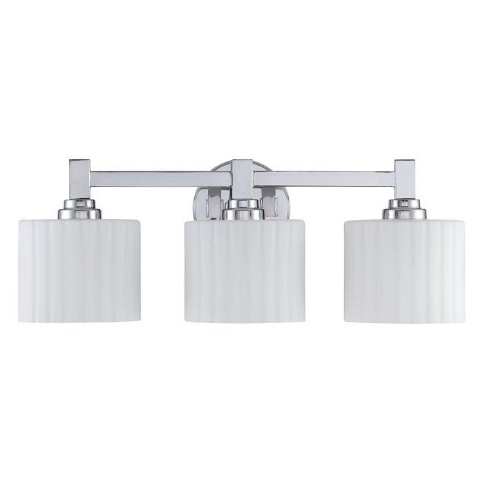 Photos On allen roth Light Grayson Polished Chrome Bathroom Vanity Light at Lowes x in Doable in size not wild about the wavy shade text u