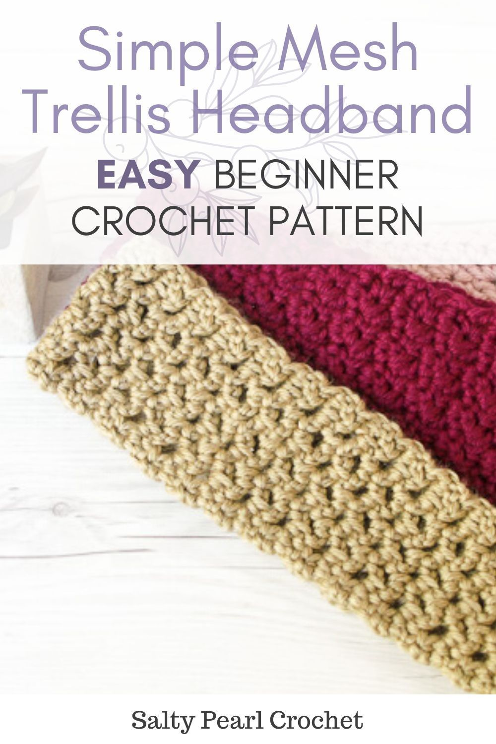 Simple Mesh Trellis Headband - A Free Crochet Headband Pattern