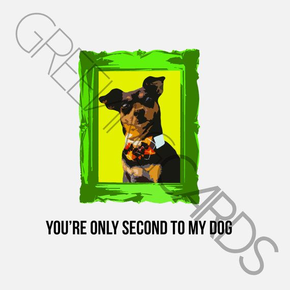 if you have to be second, it may as well be to something cute.  GREEVING CARDS 5x5, no fold, made with spite and puppy love
