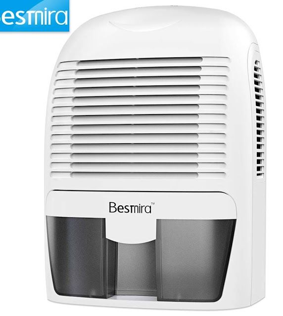 Besmira Portable Mini Dehumidifier 2200 Cubic Feet Electric Safe Dehumidifier For Bedroom Home Crawl Space Bathro Mini Dehumidifier Dehumidifiers Cubic Foot