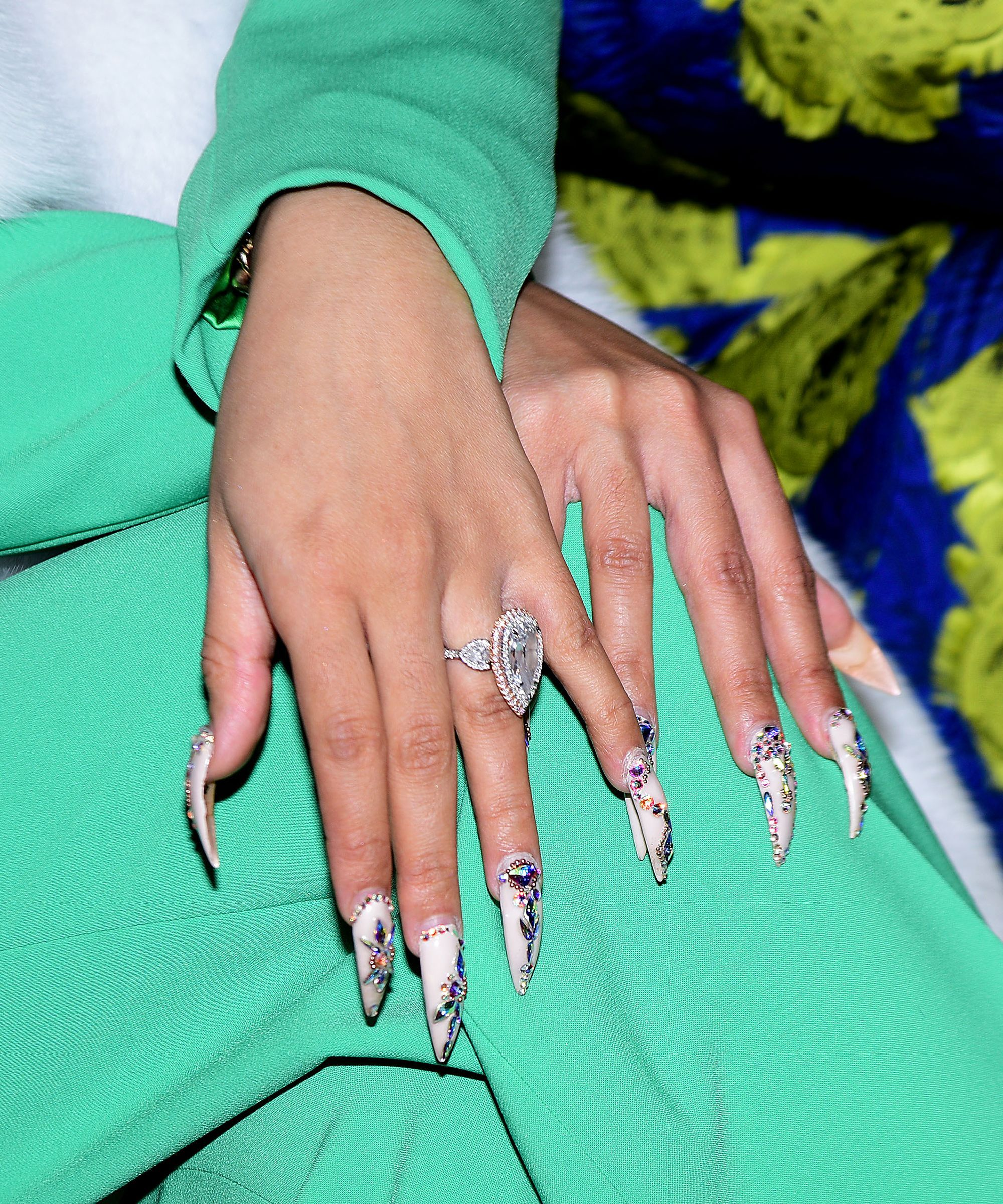 Cardi B Found A New Purpose For Her Pointy Nails PostBaby