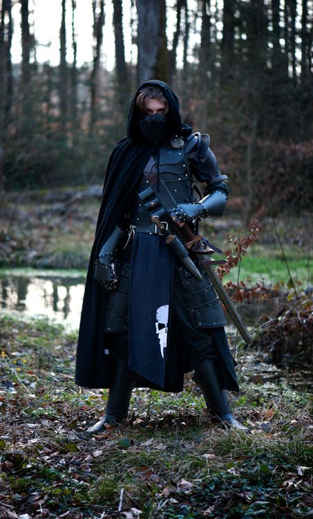 Oh my gosh! ........... Ah! That was all I could get out. Swords, knives, cloak, mask, and LEATHER?