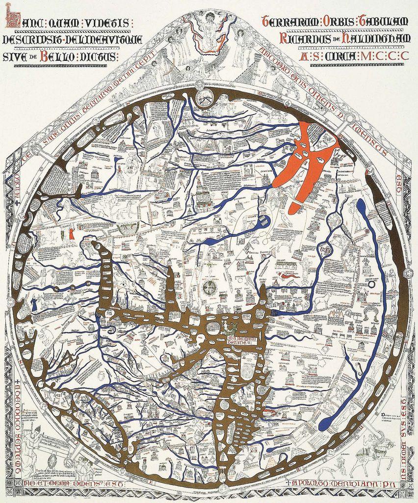 Hereford mappa mundi large scale modern facsimile Mappa mundi
