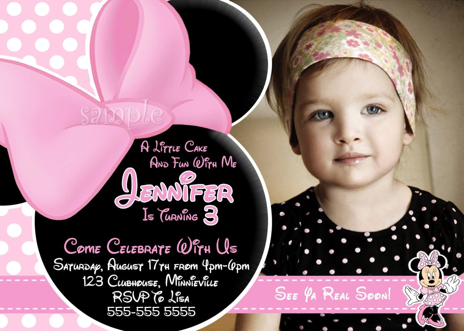 minnie mouse birthday invitations – Party Invitations Walmart