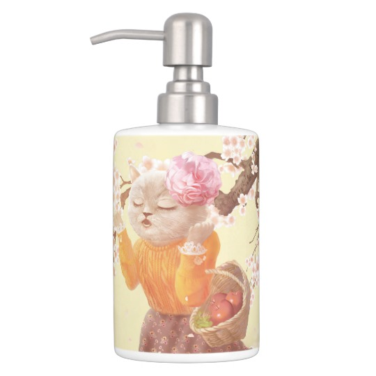 Zazzle Cat Bath Soap Dispenser