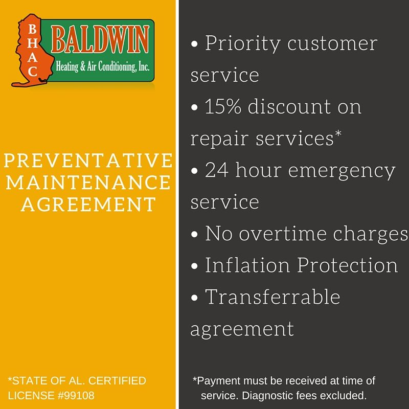 HttpWwwBaldwinhvacComMaintenanceAgreement  Baldwin Hvac