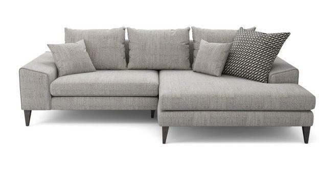 Awesome Quartz Right Hand Facing Chaise Sofa Dfs Lounge Inzonedesignstudio Interior Chair Design Inzonedesignstudiocom