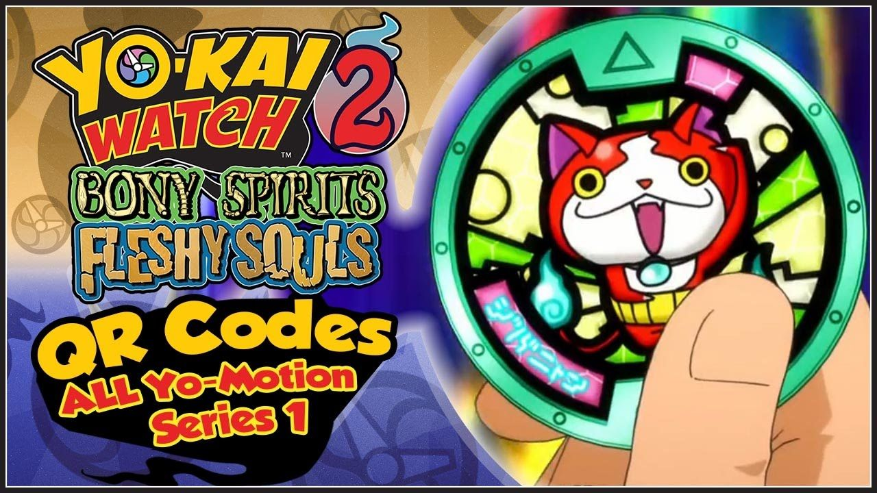 yo kai watch 2 all 30 qr codes from yo motion medals series 1