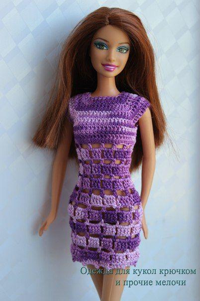 Pin von Madalena Souza auf Crochê | Pinterest | Barbiekleidung ...