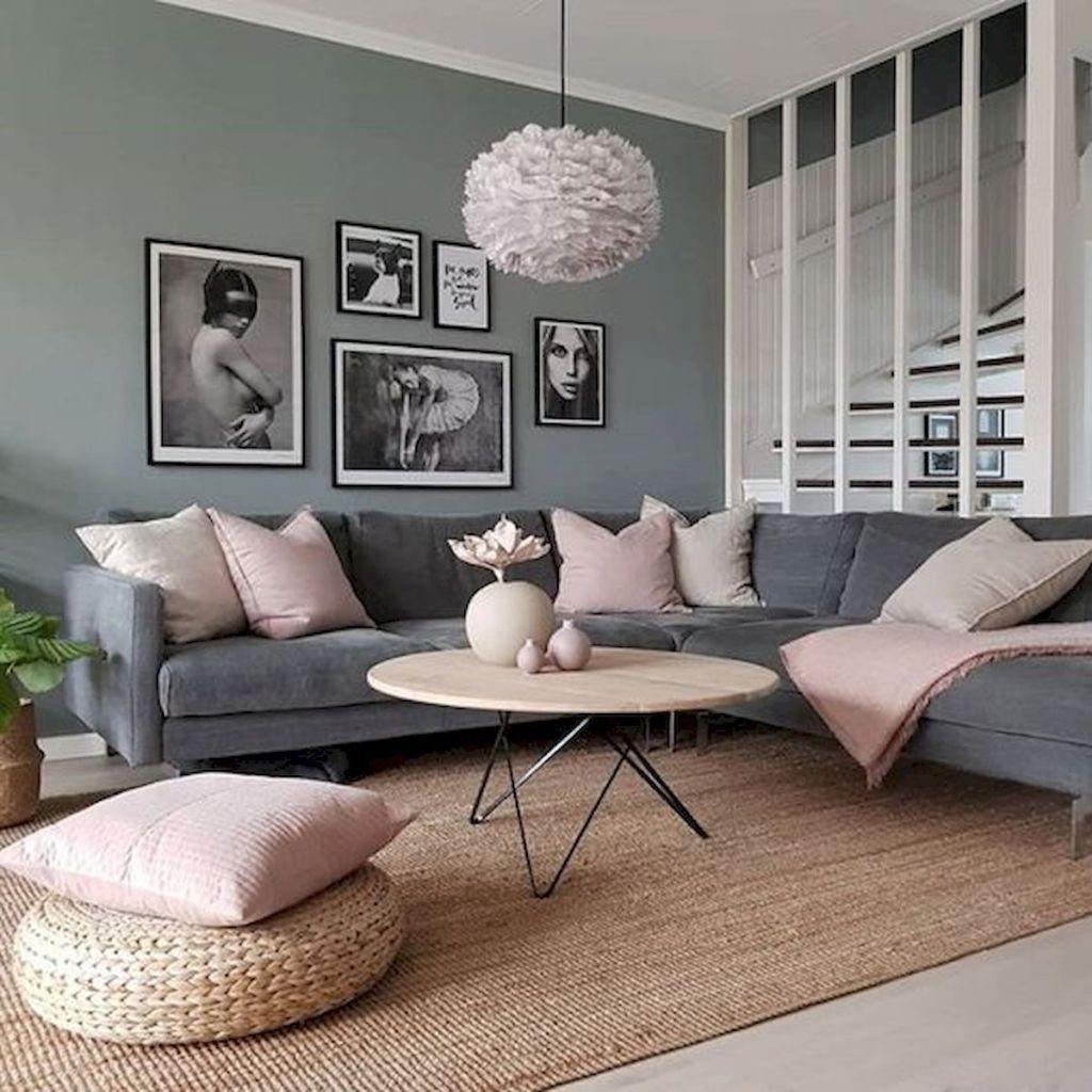33 Beautiful Grey Living Room Ideas Decorations (47
