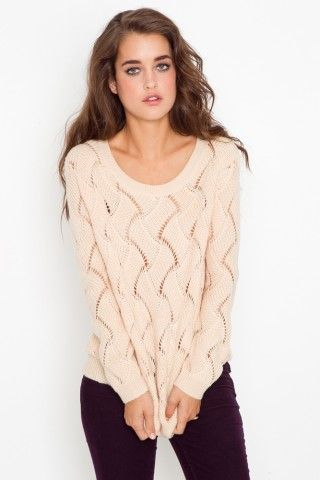 I like this fall sweater, even the plum pants...