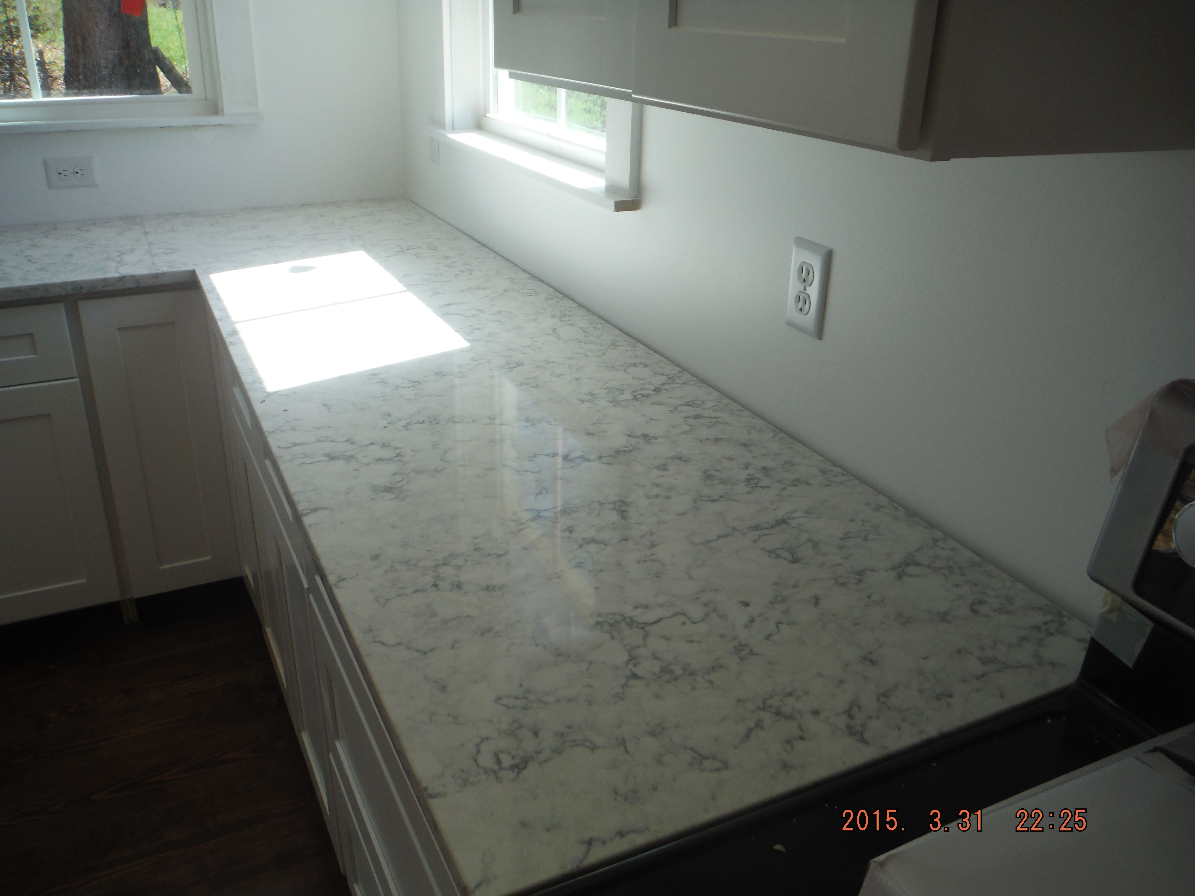 How Much Are Quartz Countertops Installed Rococo Lg Viatera Quartz Kitchen Countertop Install For