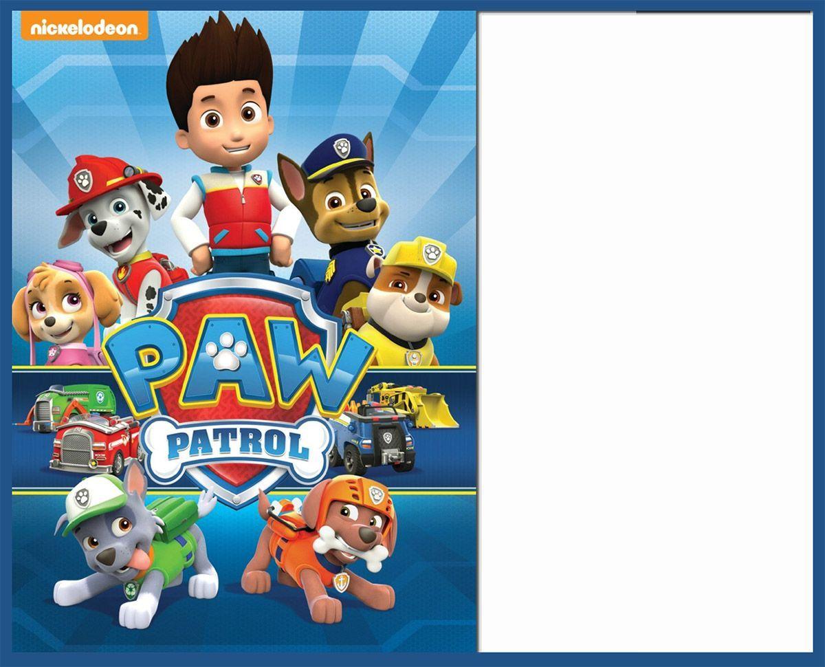free paw patrol invitation template  paw patrol birthday