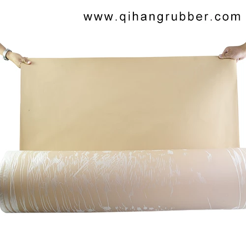 High Elongation 600 Nr Natural Beige Rubber Sheet Suppliers Qihang Rubber Industry Beige Rubber