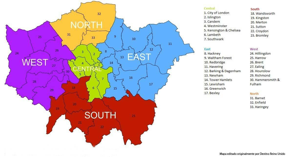 Información útil Sobre Los Barrios De Londres Y Zonas Para Vivir Precios Orientativos De Alquiler Y Mapa De L Londres Centro De Londres Aeropuerto De Stansted