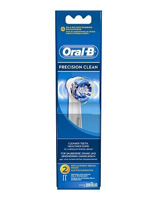Oral B Oral B Precision Clean Electric Toothbrush Heads 36 Advantage Card Points Pack Of 2 Replacem Oral B Replacement Brush Heads Toothbrush Heads