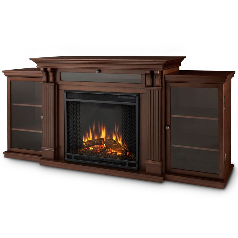 Calie Tv Stand W Electric Fireplace In Dark Espresso By Real