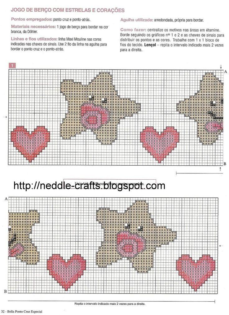 Resultado de imagen para schemi mamadeira punto cruce | patrones ...