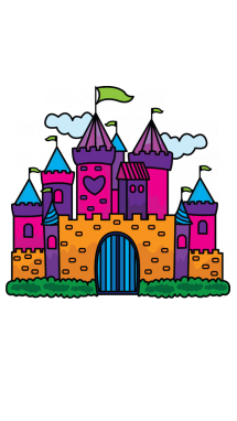 How to Draw a Princess Castle for Kids Step-by-Step ...