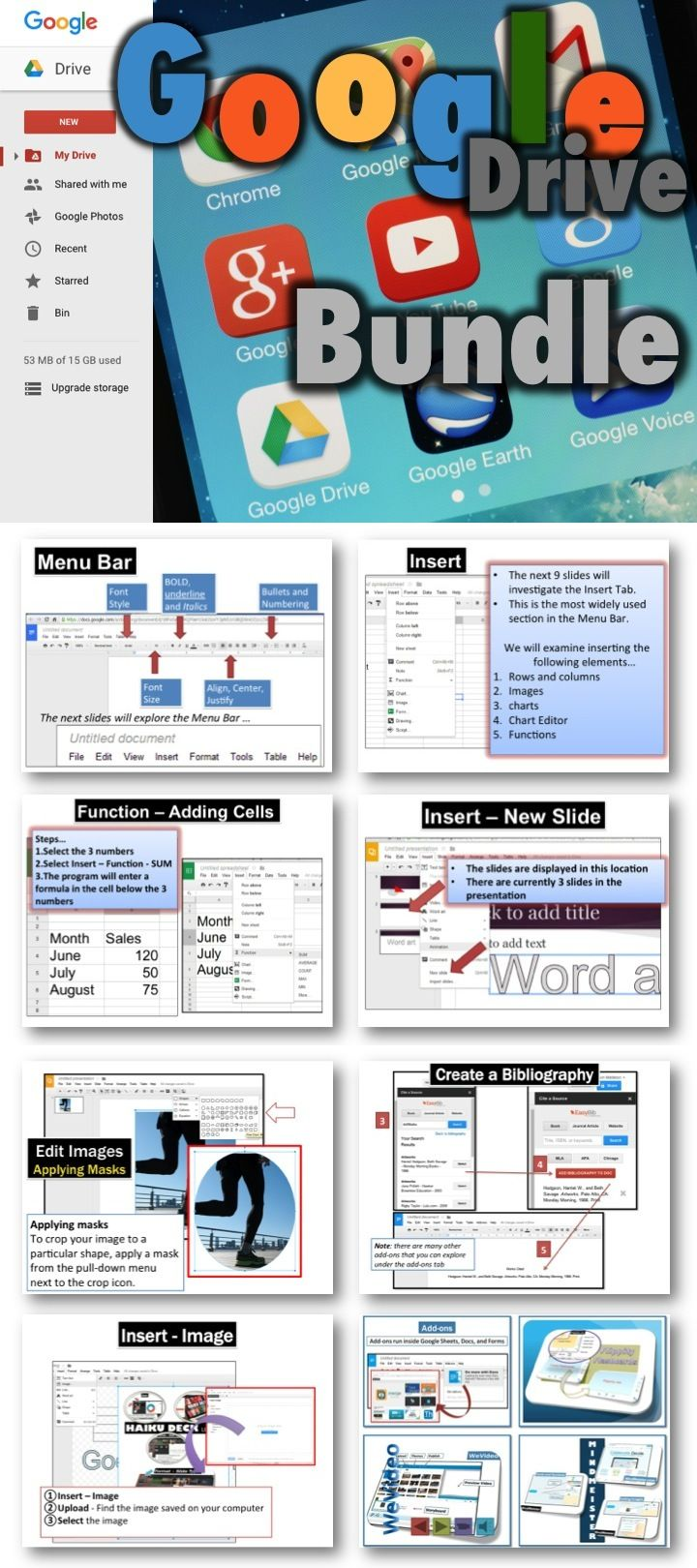 Google Drive Lessons Activities Bundle Marking Scheme Google