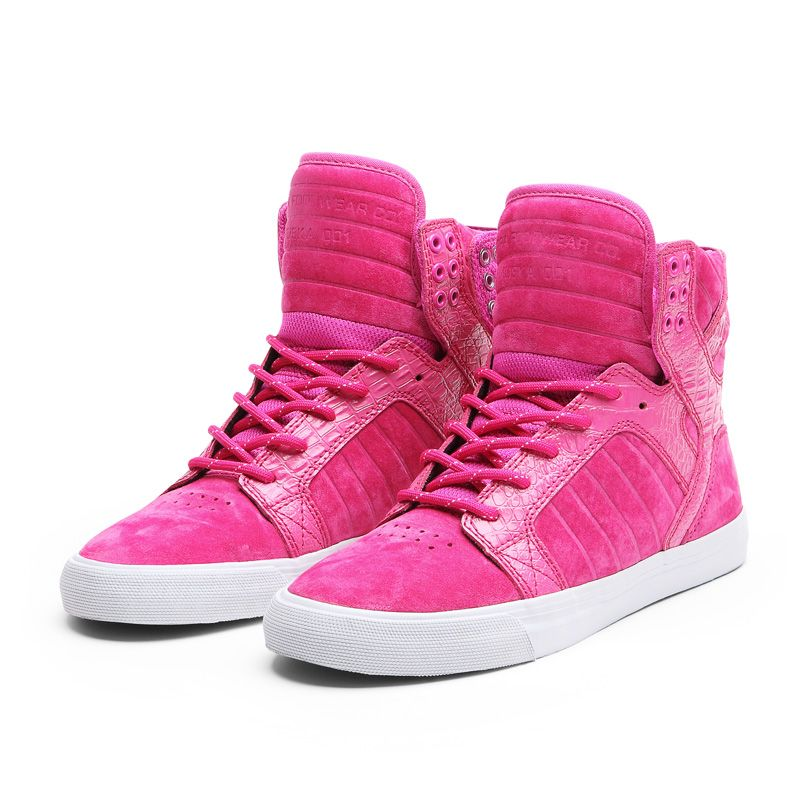supra wmns skytop shoe pink white official supra