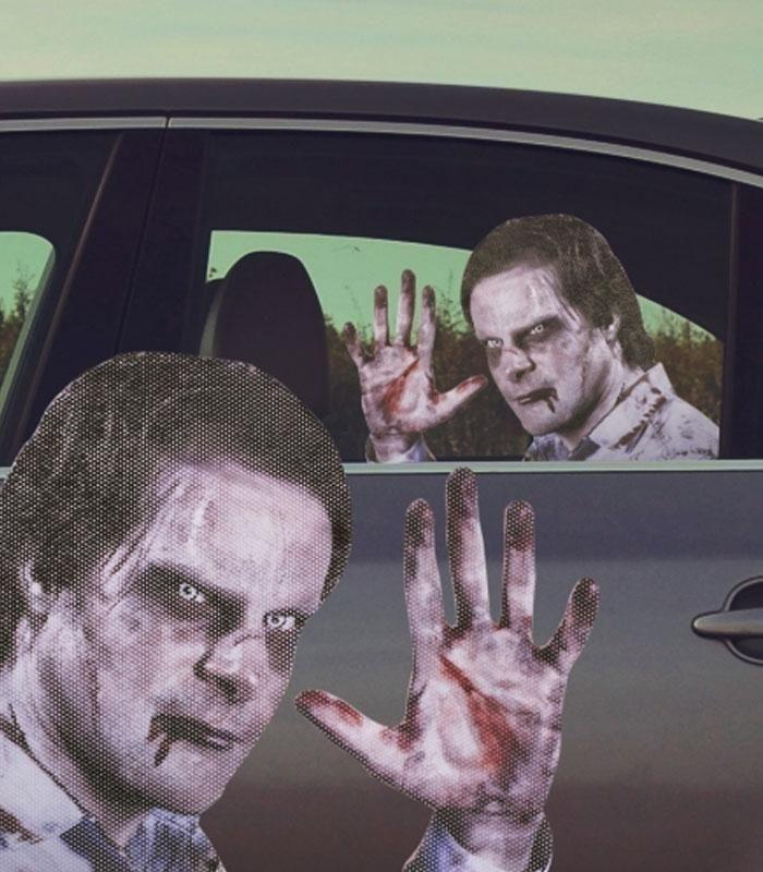Le sticker pour voiture zombie montre votre côté fantastique fan des films de zombies