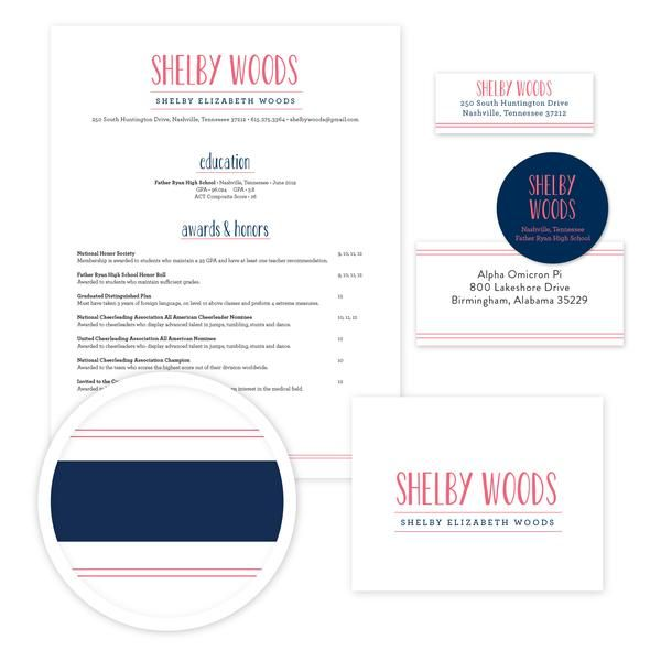 Simply Preppy Sorority Packet    Our complete sorority packets - cover letter for mailing resume