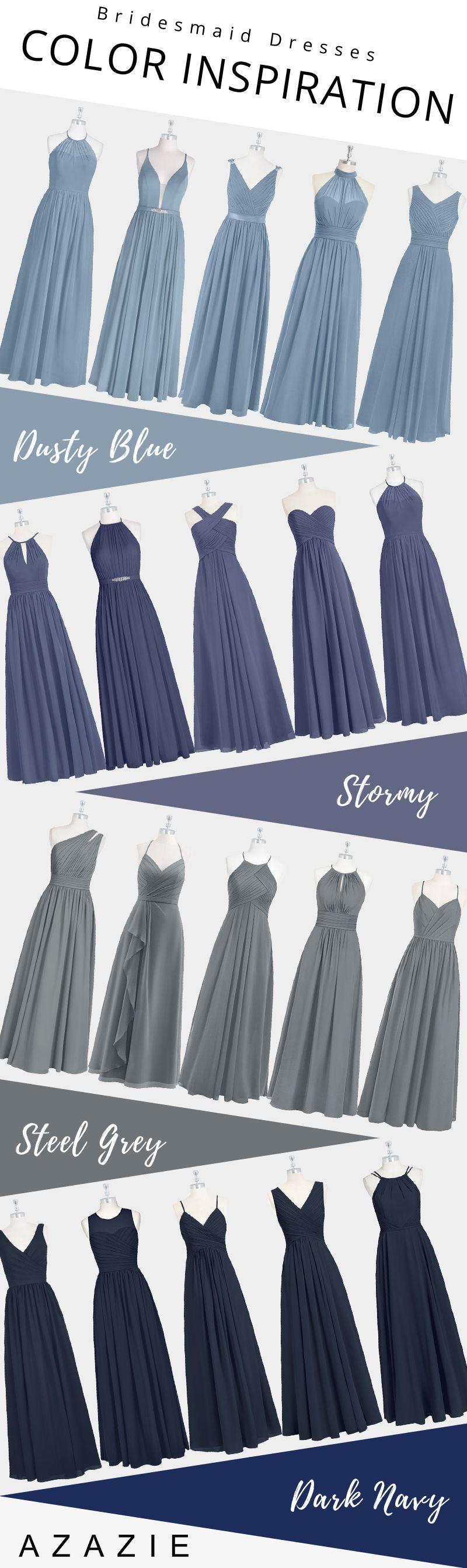 Blue Mismatched Bridesmaid Dresses Dusty Blue Bridesmaid Dresses Bridesmaid Dress Styles Dresses [ 2682 x 800 Pixel ]