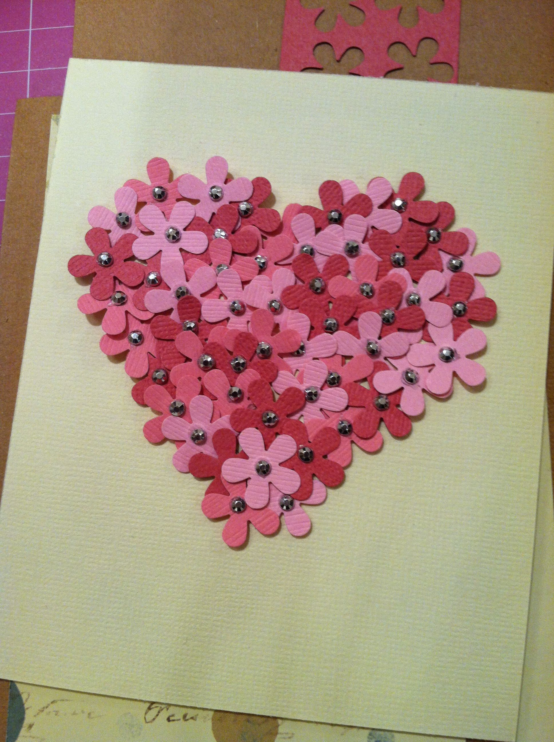 Flower Heart Homemade Card Idea Cred To My Cousin Sarah