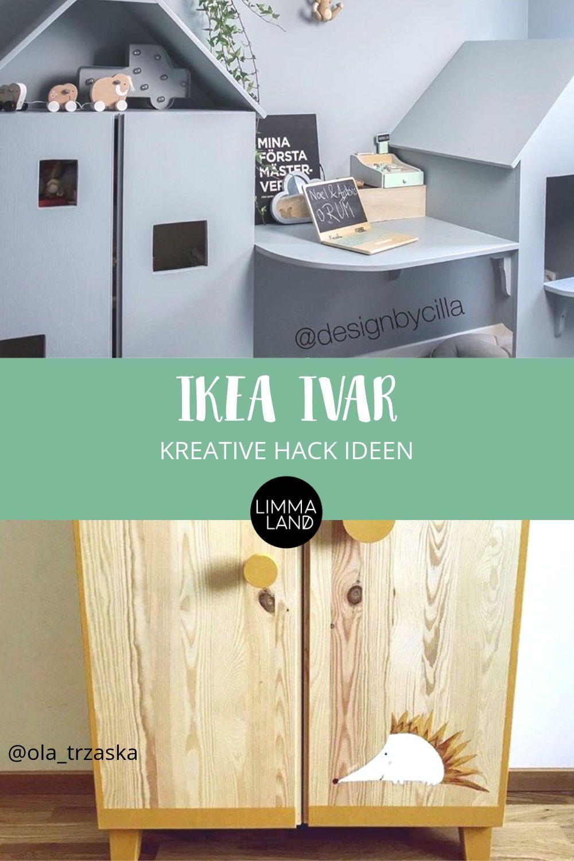 IKEA IVAR Hack Das Holzregal im Kinderzimmer Ikea ivar