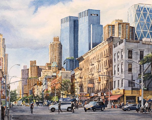 Ninth Avenue, New York City Watercolor on SCAD
