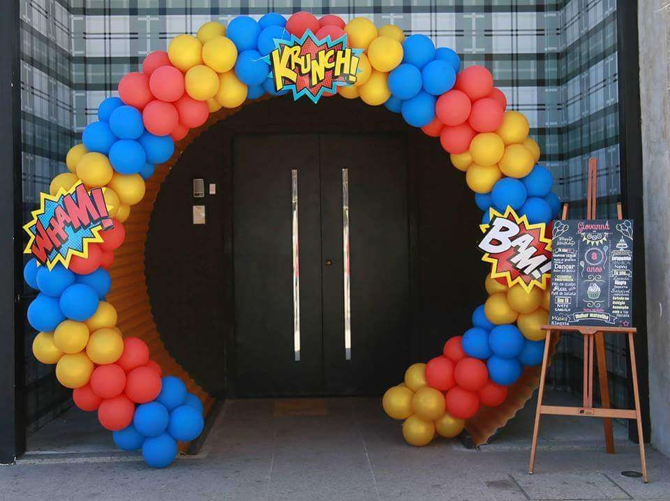 Wonder woman birthday party ideas globo fiestas y for Decoracion wonder woman