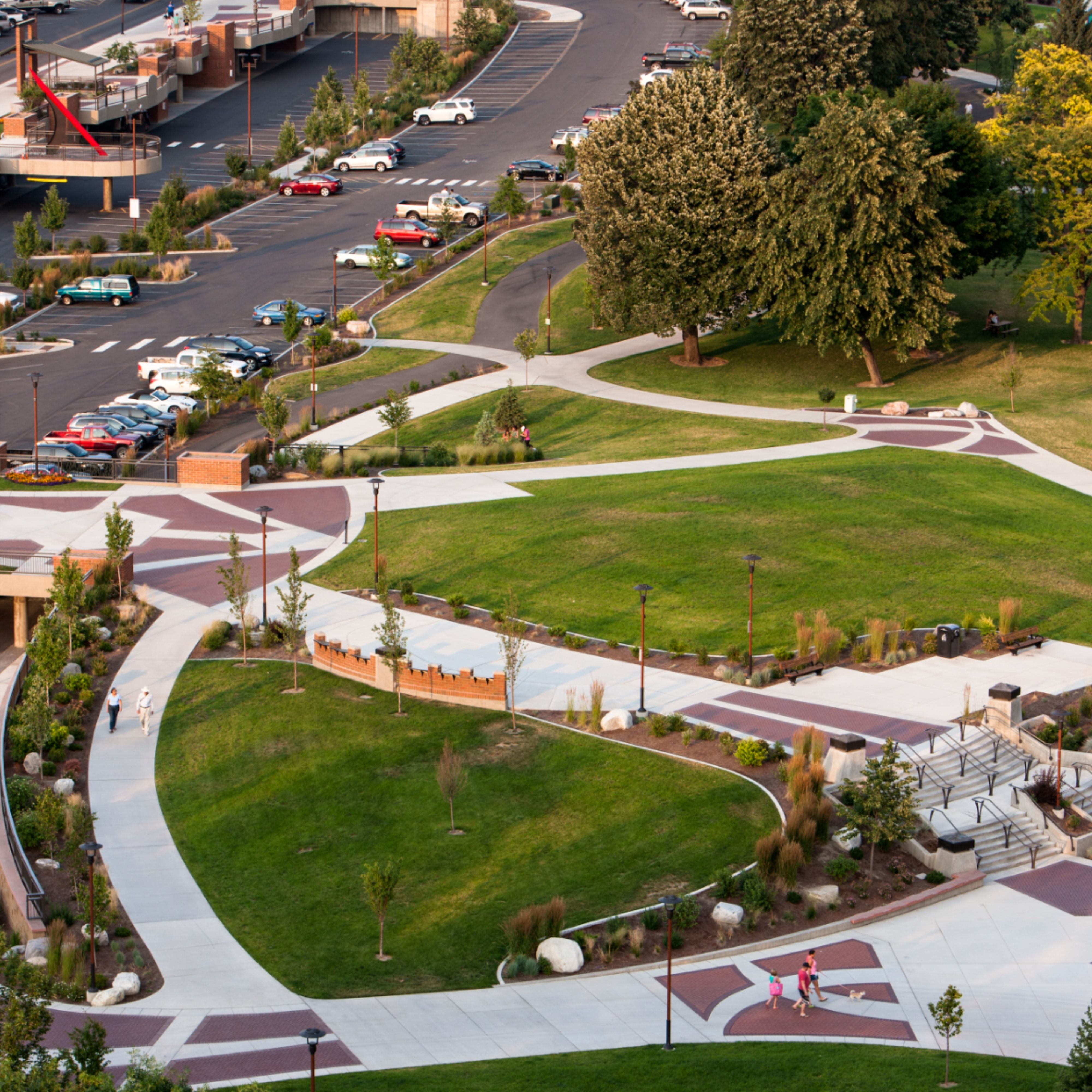 One of our favorite landscape architecture achievements – the McEuen Park Redevelopment for the City of Coeur d'Alene. The team's primary objective included creating a destination park and gathering space for the public while incorporating amenities and features to compliment the venue's spectacular waterfront setting on Lake Coeur d'Alene. What's that they say about location, location, location?   #BernardoWills #architects #architect #architecture #architecturephotography #landscapedesign