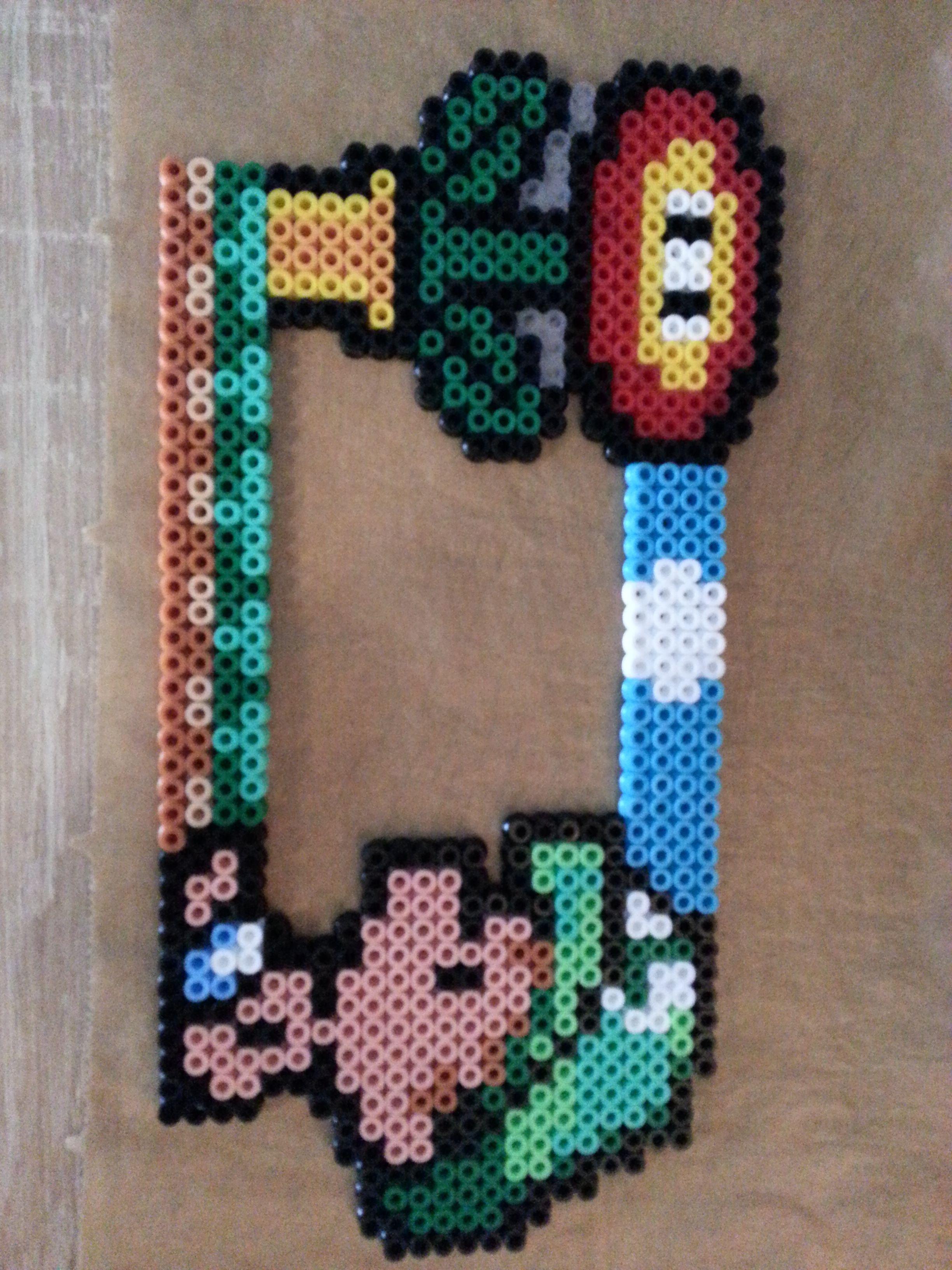 Bugelperlen Bilderrahmen Video Game Crafts Pinterest Perler