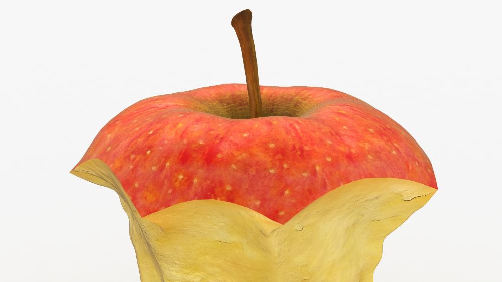 3d Realistic Bitten Apple Model Turbosquid 1492529 Apple Model Apple Realistic