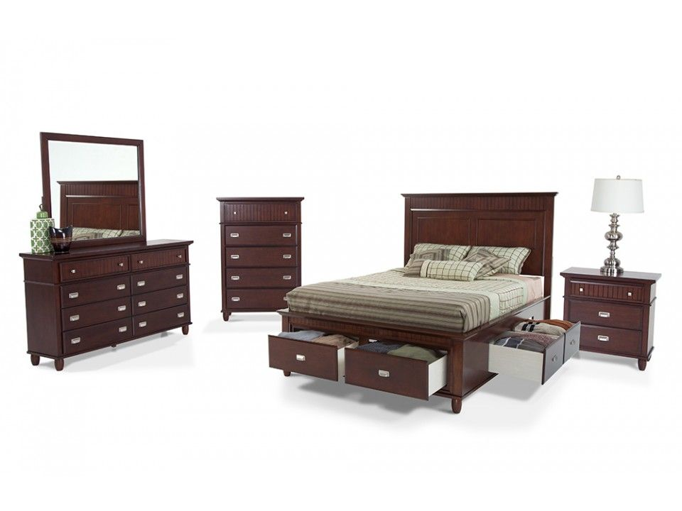 Spencer Storage 8 Piece King Bedroom Set Bedroom Sets