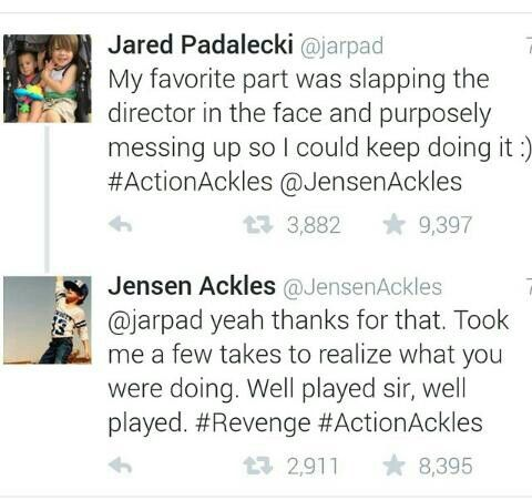 This made my day! Jensen Ackles and Jared Padalecki are just too awesome.